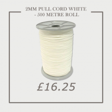 2mm Pull Cord White - Roll 500 Metre